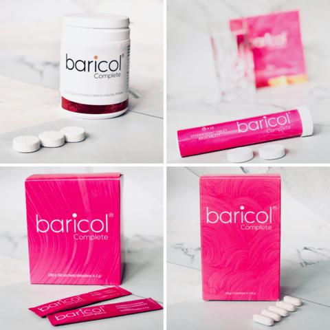 Baricol Complete bildcollage på alla fyra sorter